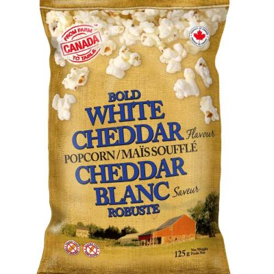 Bag of Farm to Table White Cheddar Popcorn